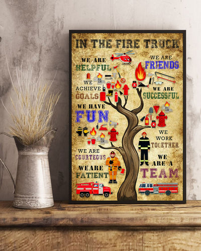 In The Fire Truck Poster - Bewished Online clothing shop