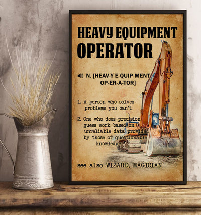 Amazing Heavy Equipment Operator Poster - Bewished Online clothing shop