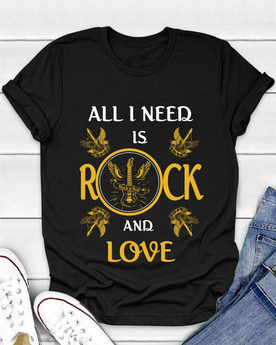 All I Need Is Rock And Love Shirts - Bewished Online clothing shop