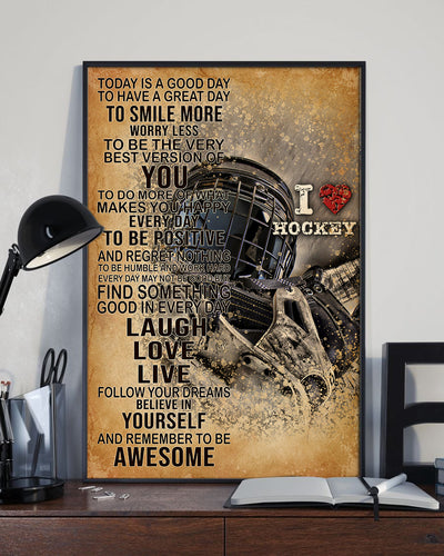 Beautiful Love Hockey Poster - Bewished Online clothing shop