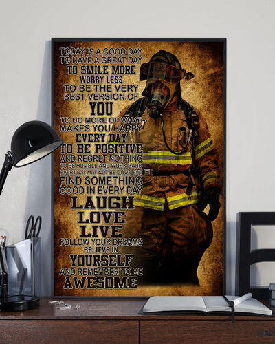 Beautiful Fireman Art Poster - Bewished Online clothing shop