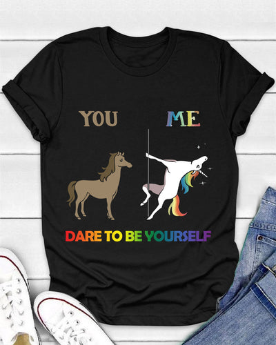 LGBT Dare To Be Yourself Shirts - Bewished Online clothing shop