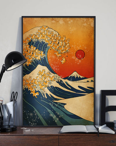 The Great Wave Of Seberian Shiba-inu Poster - Bewished Online clothing shop