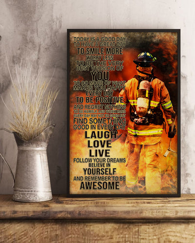 Beautiful Firefighter Poster - Bewished Online clothing shop