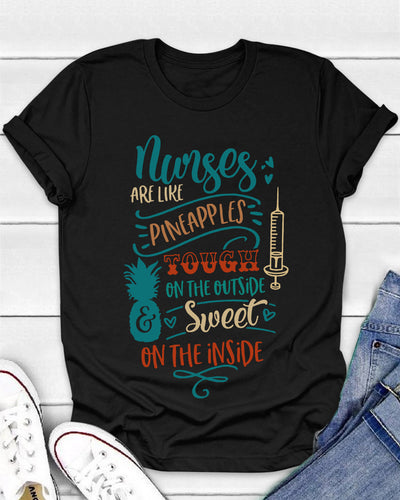 Nurses Are Like Pineapples Shirts - Bewished Online clothing shop