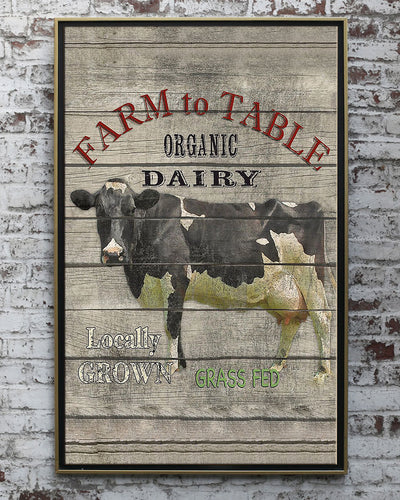 Farm To Table Organic Dairy Poster - Bewished Online clothing shop