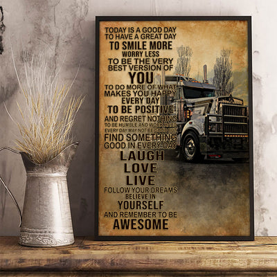I'm A Truck Driver Poster - Bewished Online clothing shop