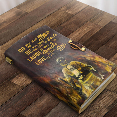 Do What Makes You Happy Fire Fighter Handmade Note Book - Bewished Online clothing shop