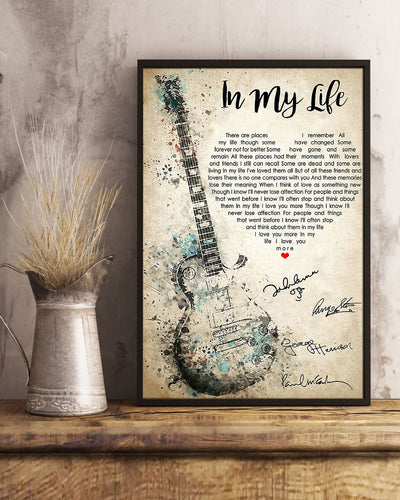 In My Life Vertical Poster - Bewished Online clothing shop
