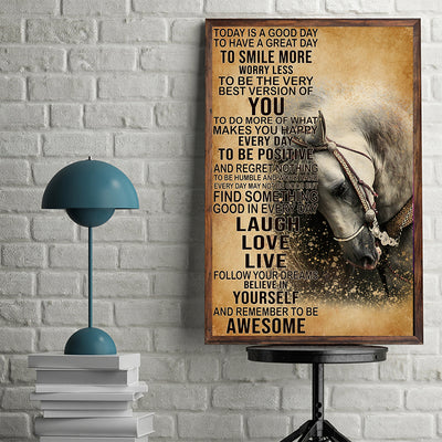 Horse Today's Good Day To Have Great Day To Smile Poster - Bewished Online clothing shop