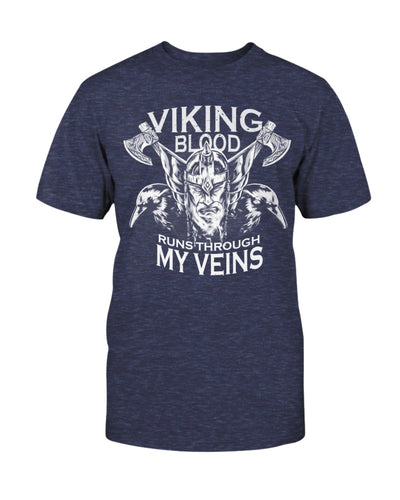 Viking Blood Run Through My Veins Shirts - Bewished Online clothing shop