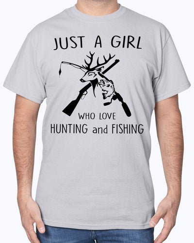 Just A Girl Who Love Hunting And Fishing Shirts - Bewished Online clothing shop