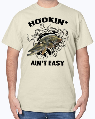 Hookin' Ain't Easy Fishing Shirts - Bewished Online clothing shop