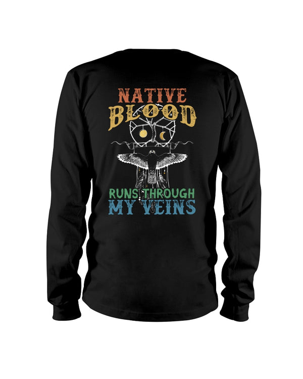 Native Blood Runs Through My Veins Shirts - Bewished Online clothing shop