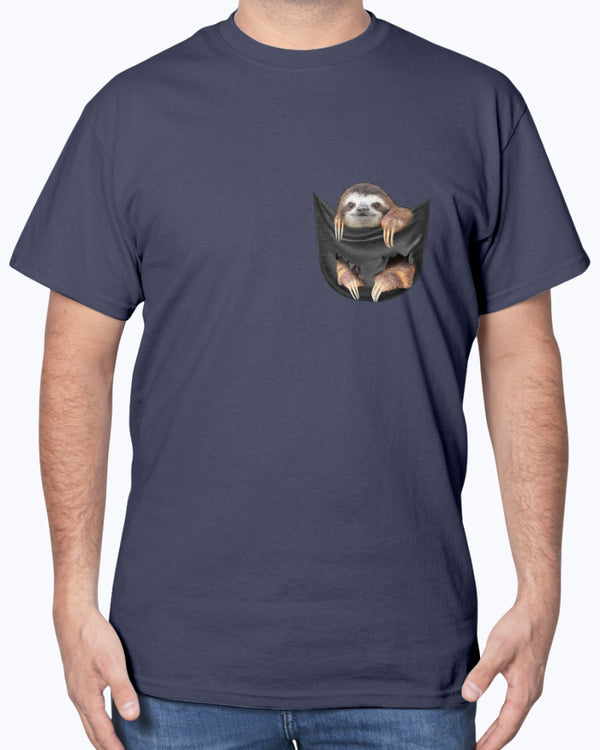 Sloth In A Pocket Shirts - Bewished Online clothing shop