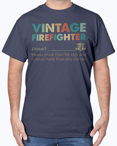 Vintage Firefighter Know More Than He Says Shirts - Bewished Online clothing shop