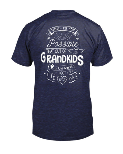 How Is It Possible That Out Of All The Grandkids In The World I Got The Best Ones Shirts - Bewished Online clothing shop