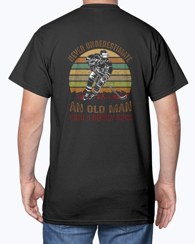 Never Underestimate An Old Man With A Hockey Stick Shirts - Bewished Online clothing shop