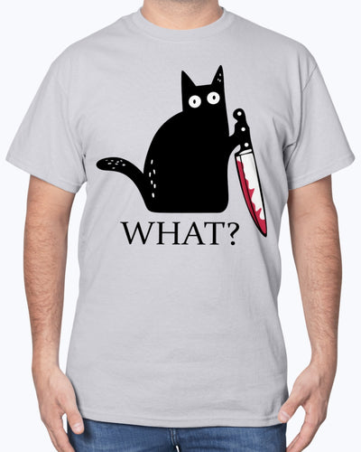 Murderous Black Cat With Knife Shirts - Bewished Online clothing shop