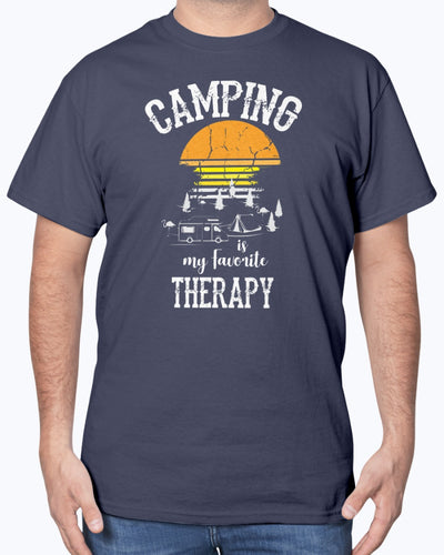 Camping Is My Favorite Therapy Shirts - Bewished Online clothing shop