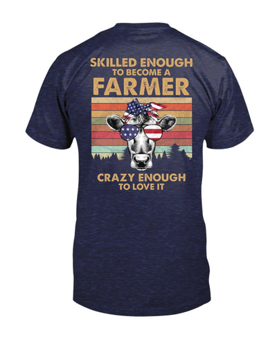 Skilled Enough To Become A Farmer With Cow Shirts - Bewished Online clothing shop