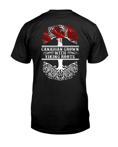 Canadian Grown With Viking Roots Shirts - Bewished Online clothing shop