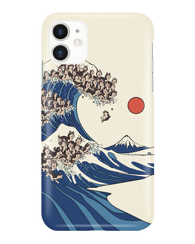 The Great Wave Off Seberian Husky Phonecase - Bewished Online clothing shop