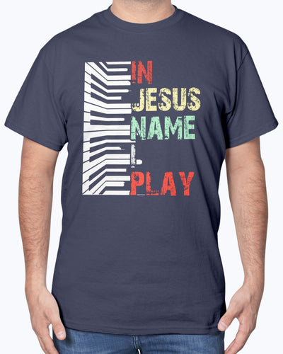 In Jesus Name I Play With Piano - Bewished Online clothing shop