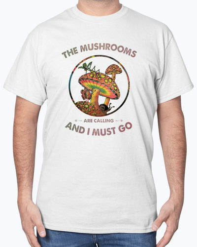 The Mushrooms Are Calling and I Must Go Shirts - Bewished Online clothing shop