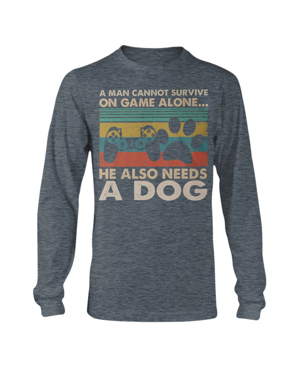 A Man Needs Game And Dog Shirts - Bewished Online clothing shop