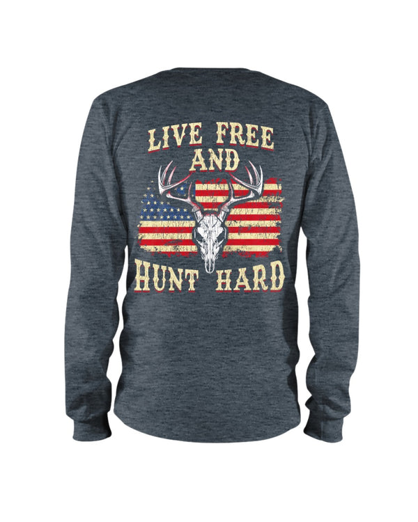 Live Free And Hunt Hard Shirts - Bewished Online clothing shop