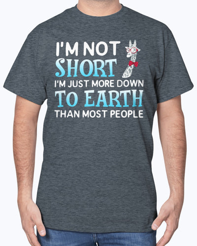 I'm Not Short Im just More Down To Earth Than Most People Shirts - Bewished Online clothing shop