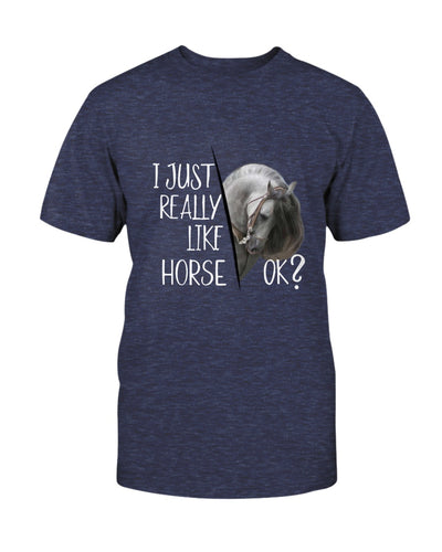 I Just Really Like Horse Shirts - Bewished Online clothing shop