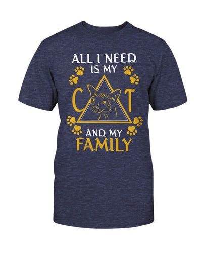 All I Need Is My Sphynx Cat And My Family Shirts - Bewished Online clothing shop
