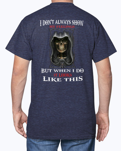 I Don't ALways Show My Feelings Shirts - Bewished Online clothing shop