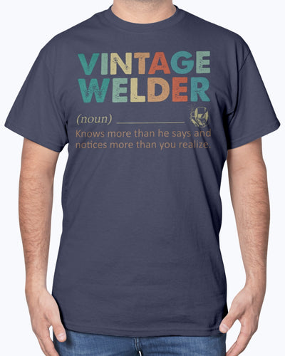 Vintage Welder Know More Than He Says Shirts - Bewished Online clothing shop