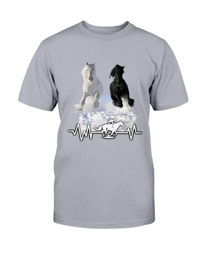 Black & White Beautiful Horse Shirts - Bewished Online clothing shop