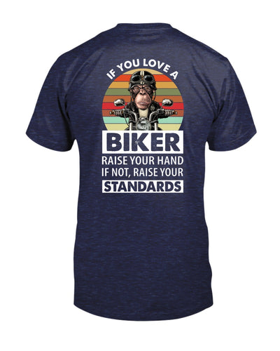 If You Love A Biker Raise Your Hand Shirts - Bewished Online clothing shop