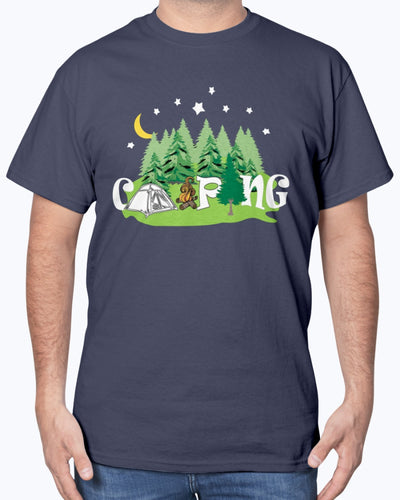 Camping Tent Word Art Spare Tire Cover Shirts - Bewished Online clothing shop