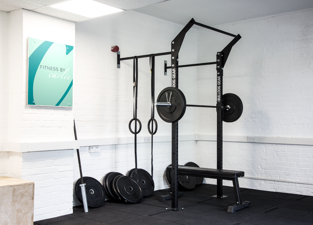 Garage gym wall mounted rig crossfit strength equipment