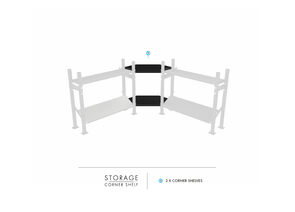 Modular Storage System - Corner Shelf