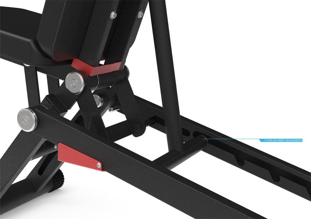 Zero Adjustable Bench - Flat / Incline / Decline