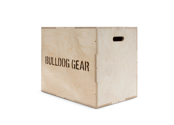 Multi-Use Wooden Plyometric Box - 3 in 1