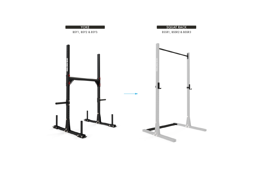 Conversion Kit - Yoke to Squat Rack
