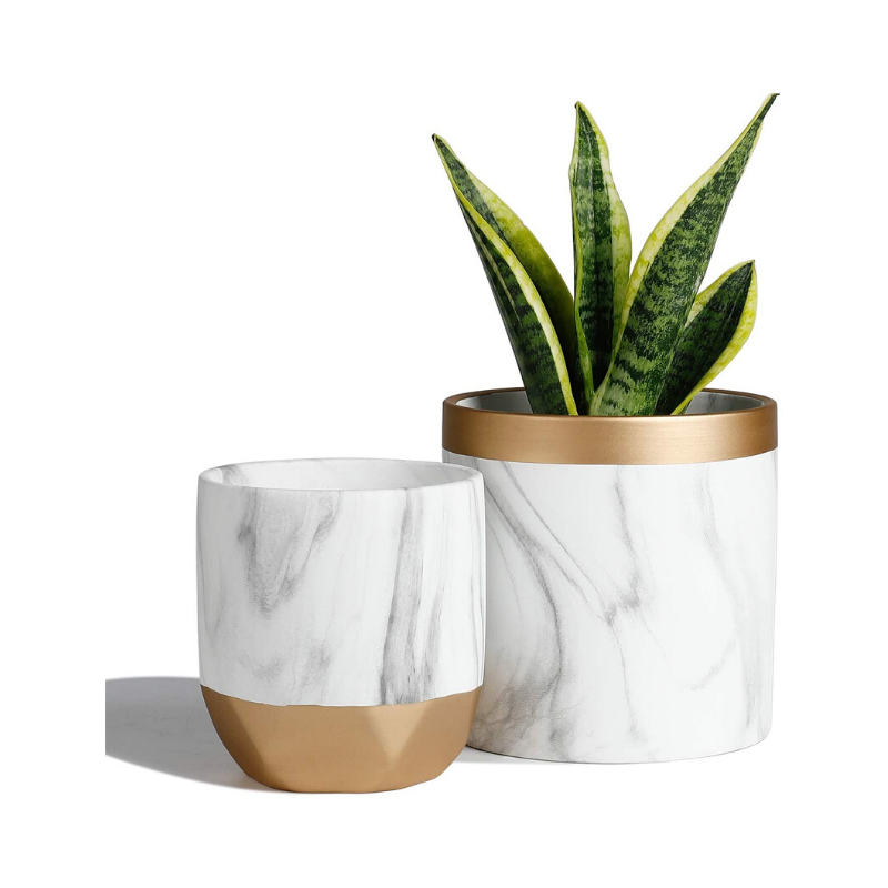 Marble Pattern Ceramic Planters