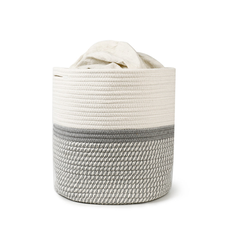 Grey Cotton Rope Plant Basket