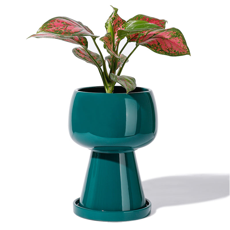 Modern Teal Ceramic Flower Pot