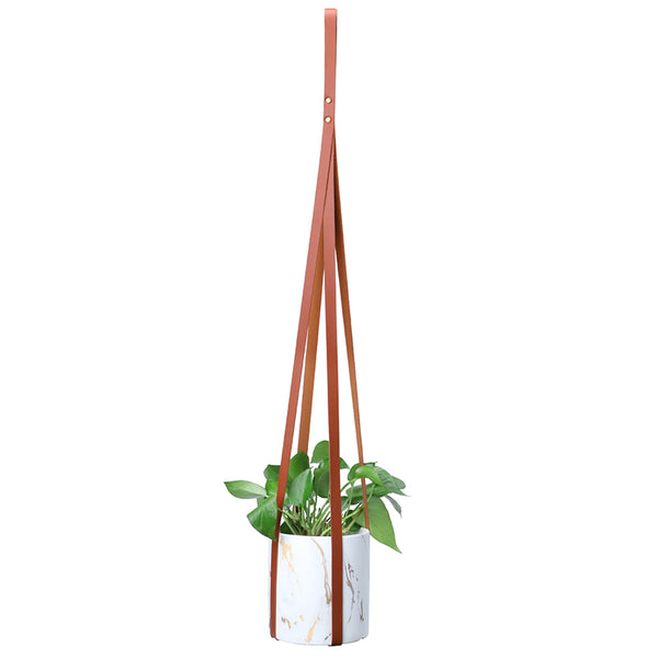 Vegan leather Plnant Hanger, Mahogany Brown