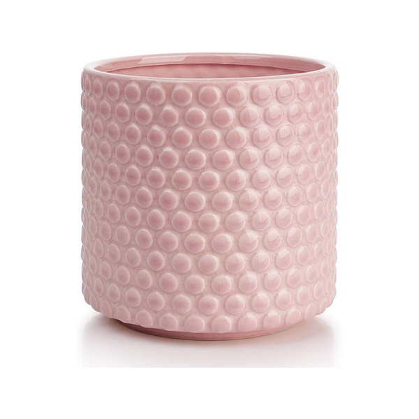 Hobnail Pink Ceramic Flower pot