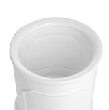 6 Inch Cylinder Porcelain Planter with Saucer, White